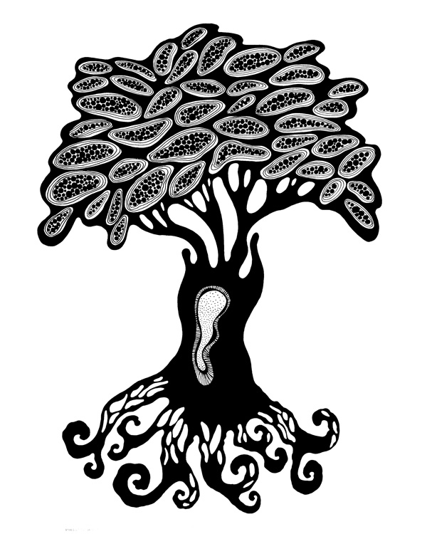 Black & White Tree Print - Printable Wall Art - Graphics - Tree poster