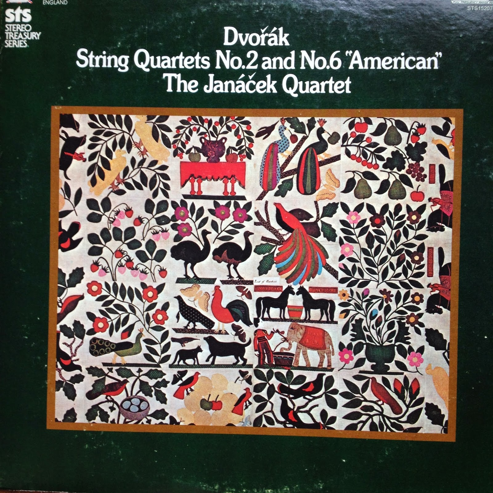 LP: Dvorak string quartets: 2 and 6.