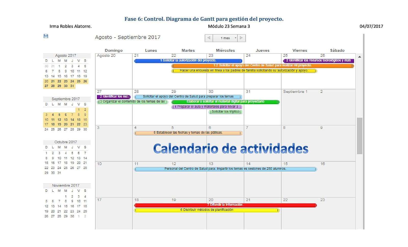 Blog irma robles fase 6 control diagrama de gantt para for Sitio web ministerio del interior