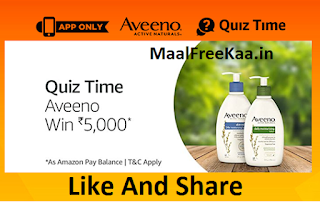 Aveeno Quiz Time