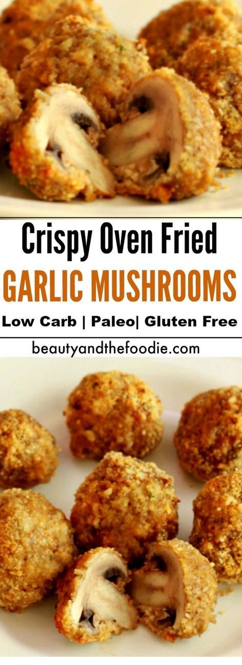 Crispy Oven Fried Garlic Mushrooms