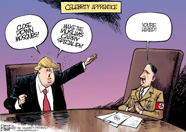 Image result for TRUMP IN NAZI UNIFORM CARTOON