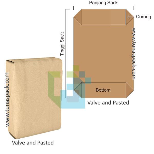 Karung kertas valve and pasted
