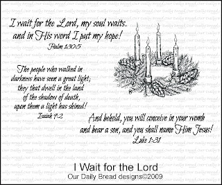 Our Daily Bread Designs - Stamps I Wait for the Lord