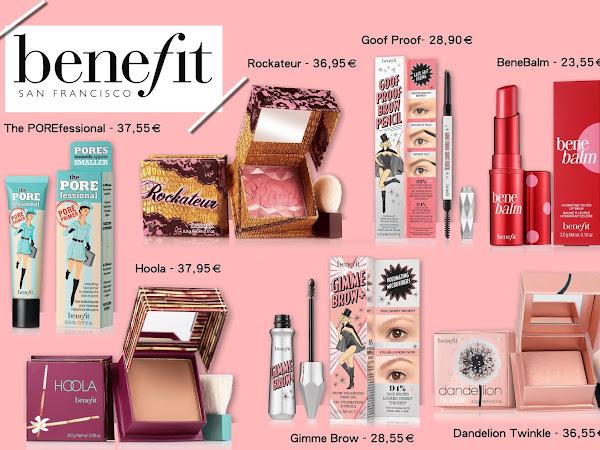 Os meus produtos favoritos da Benefit