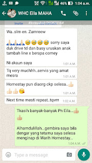 Warih-Homestay-Testimoni-Pn-Eila-Jabatan-Veterinar-Kelantan