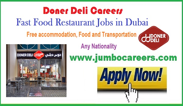 List down the UAE job vacancy, new Restaurant jobs in Dubai,