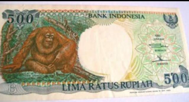 uang kertas 500 rupiah monyet