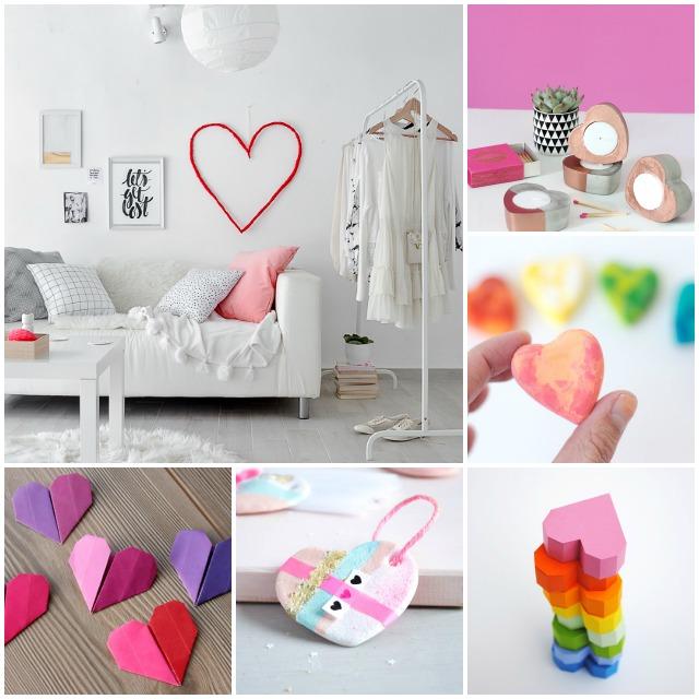 6 corazones handmade para San Valentín