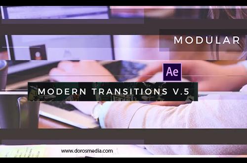 قوالب افترافكت , انتقالات افترافكت قالب  حزمة إنتقالات حديثة مميزة لبرنامج الافترافكت Modern Transitions 5 Pack