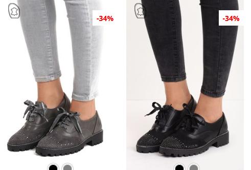 Pantofi Oxford negri, Gri de dama la moda 2019