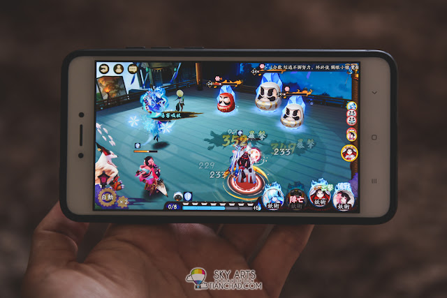 Playing 3D Mobile game on Redmi Note 4 - Onmyoji 阴阳师