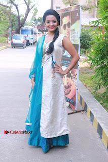Tamil Actress Koushika Stills in White Salwar Kameez at Inayathalam Tamil Movie Audio Launch  0012.jpg