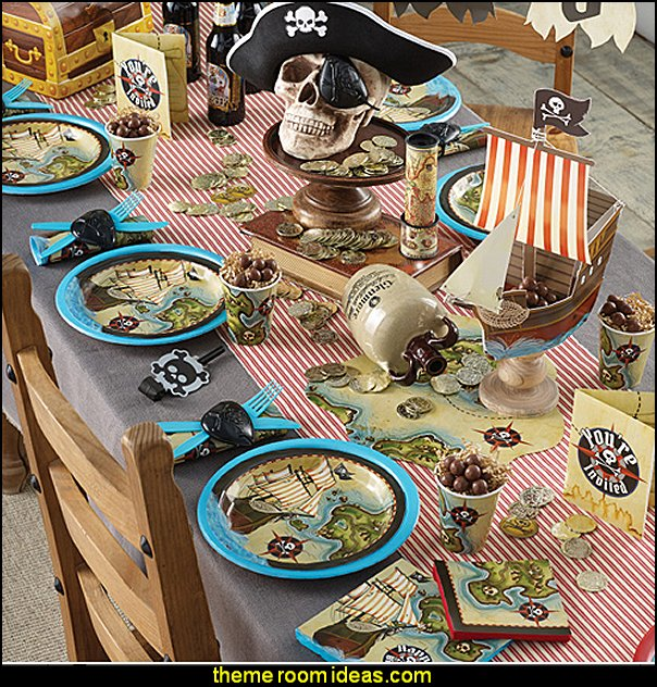 Boy Birthday Party Themes Pirate's Map Party Supplies Boys Birthday Party