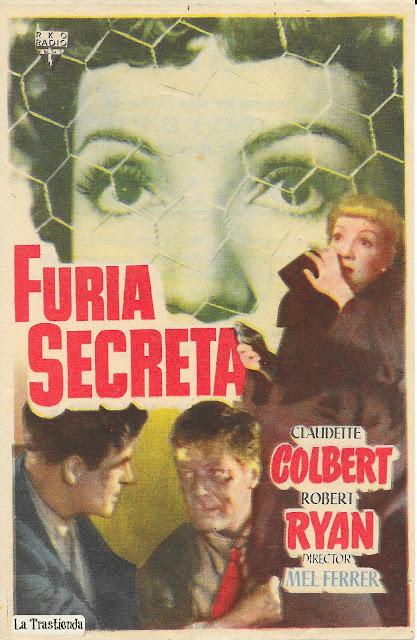 Furia Secreta - Programa de Cine - Claudette Colbert - Robert Ryan