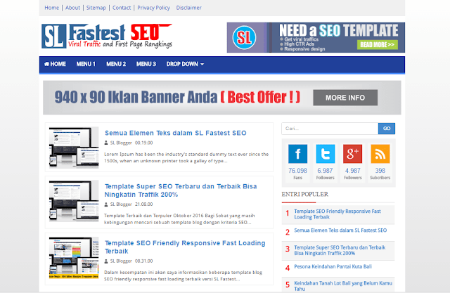 SL Fastest SEO-Template SEO Killer Super Fast Loading