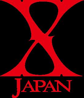 X Japan の背景透過ロゴ 赤
