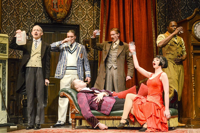 The Play That Went Wrong cast drinking white spirit, thinking it's whisky