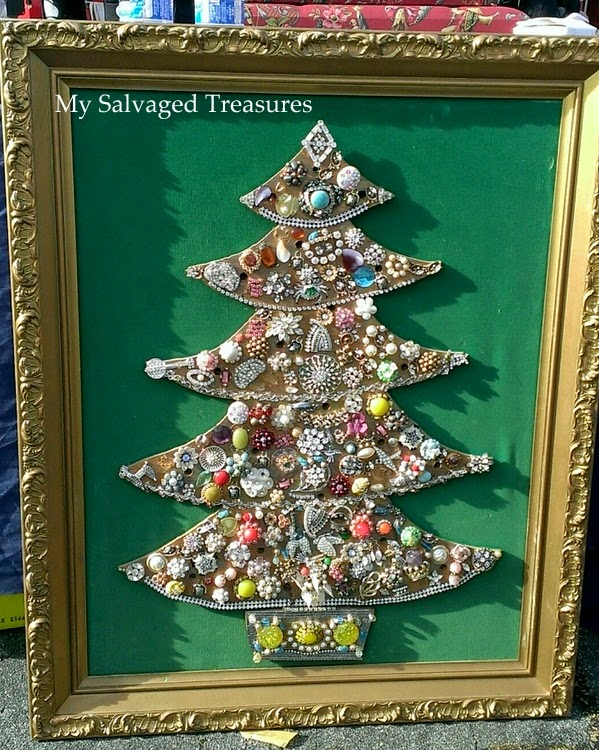 Vintage jeweled Christmas tree