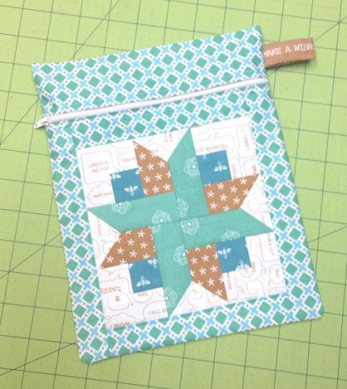 Zip Handy Pocket for Quilting Supplies free Tutorial