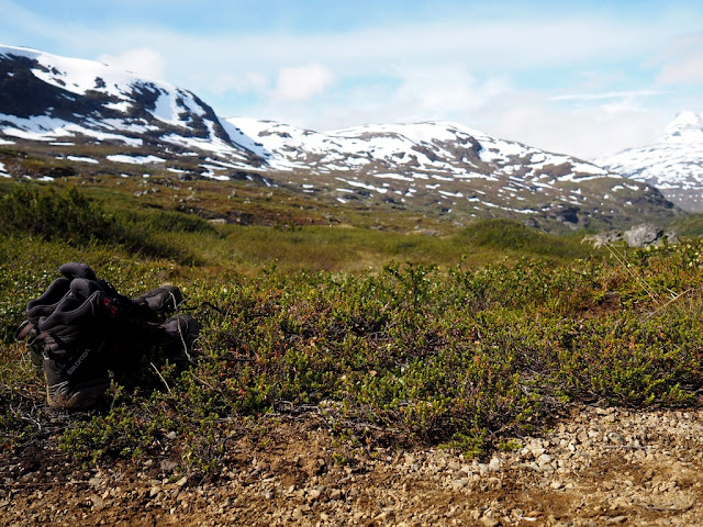 Mokré boty, sluníčko, příroda, Norsko, Jotunheimen