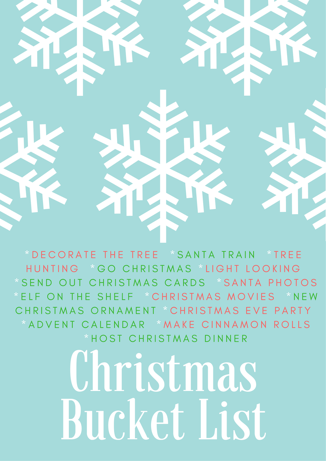 Christmas Bucket List 2016