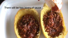 how to make a Spaghetti squash 1st layer