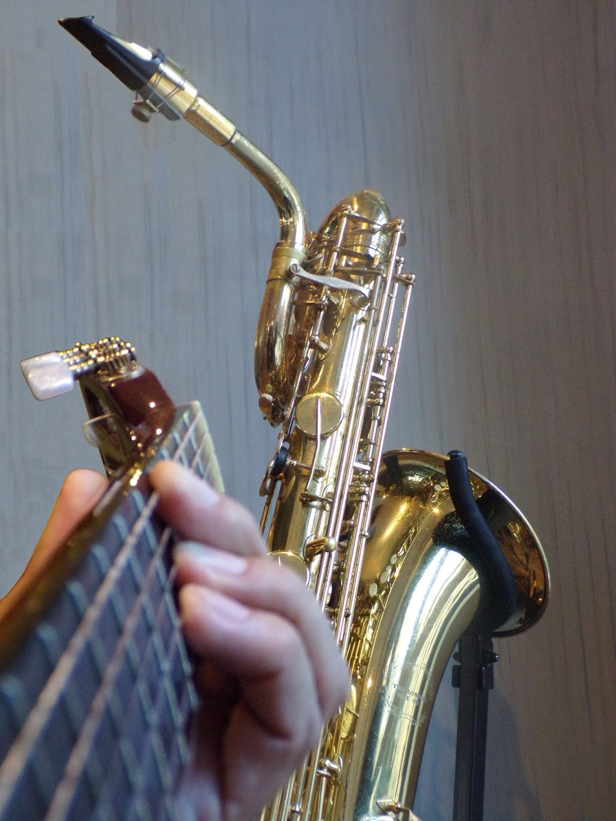 The Sound Image Blog: Guitar and Baritone Sax-Clarinet-Flute Duo
