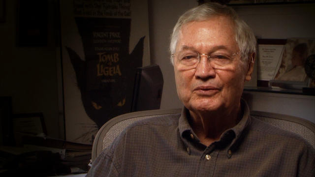 Roger Corman being interviewed