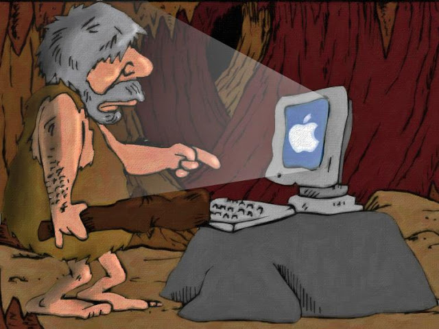 stilton's place, stilton, political, humor, conservative, cartoons, jokes, hope n' change, new computer, imac, caveman, operating system