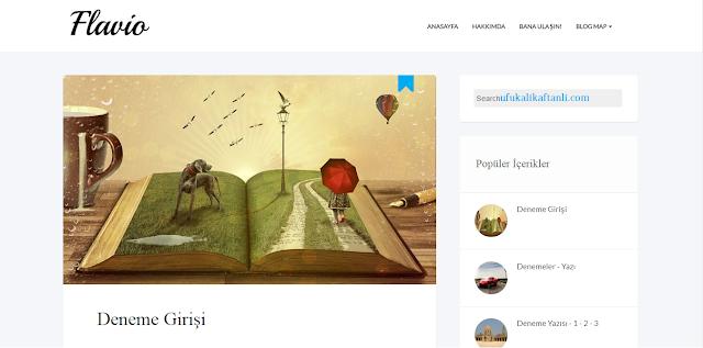 Flavio Responsive Blogger Teması'nın Türkçe'ye Çevrilmiş Hali