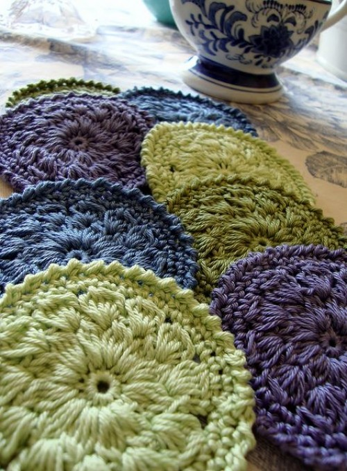 Spring Coasters - Free Pattern