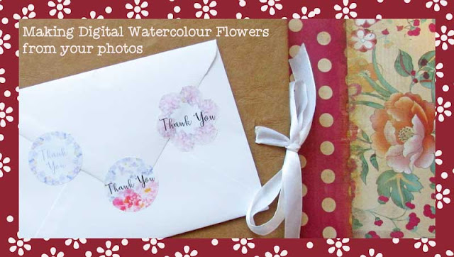 Watercolour flower stickers by PaperspotUK for Silhouette UK Blog
