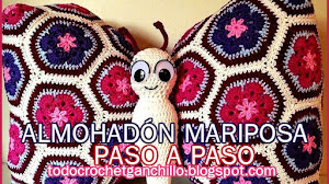 Almohada Mariposa Crochet / Paso a paso