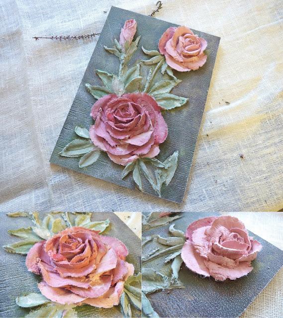 декоративная штукатурка рельефная  цветы