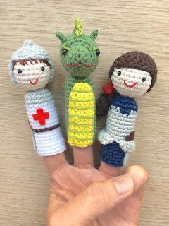 muñecos de dedo amigurumi