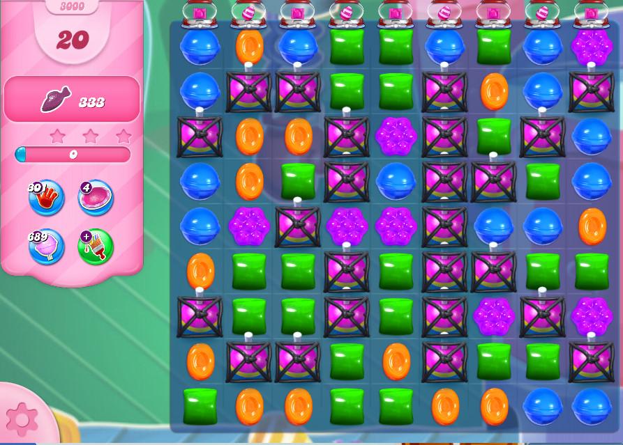 Candy Crush Saga level 3000