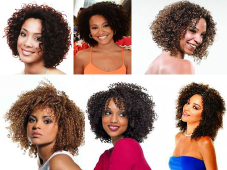 cortes de cabelos crespos médios