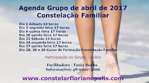 Agenda de abril de 2017 - Workshop Constelação Familiar