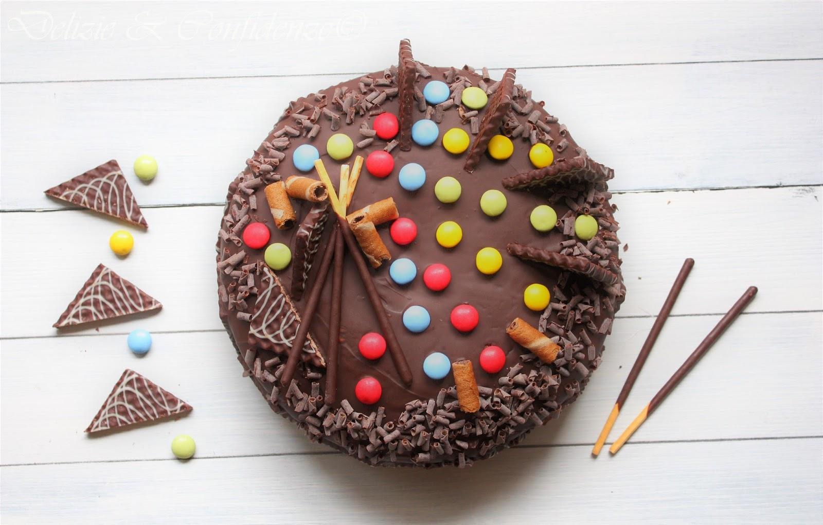 Torta Di Compleanno Al Cioccolato Sponge Cake Delizie