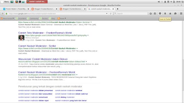 Blog saya masuk mesin pencari walau bukan di urutan pertama :')