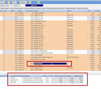 Lista de órdenes de reparación software de talleres 2