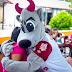 Mascotas de la Liga Mexicana de Béisbol visitan el Caimede