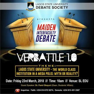 LASU Inter-Faculty Debate Competition 2018