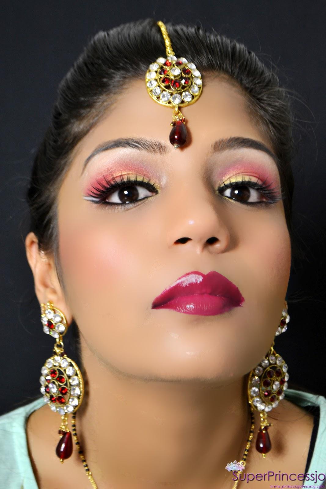SuperPrincessjo : INDIAN BRIDAL WEDDING MAKEUP -RED GOLD