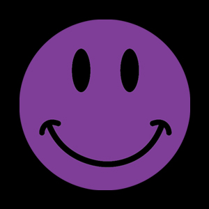 Purple flat color smiley
