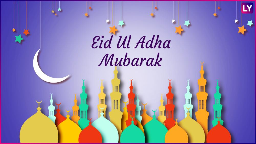 Eid Al-Adha 2018: Happy Bakra Eid Wishes, Quotes, Images, Greetings, Whats App Status, Cards, Photos, Messages and Wallpapers. Happy Bakrid, Happy Eid al-Adha 2018 Wishes Images, Quotes, Messages, SMS, Wallpaper, Greetings, Photos, Pics: Wish your family and friends well with these heartwarming messages.