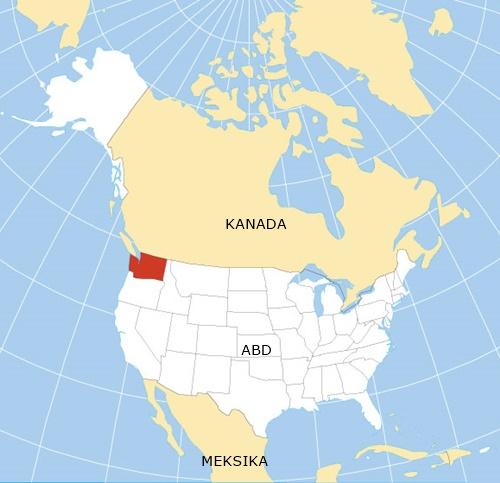 washington eyaleti amerika harita nerede