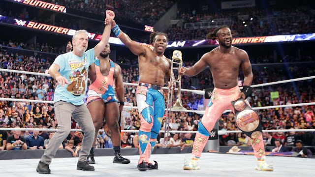 Big E a permis à The New Day de se tirer d'affaire contre Gallows & Anderson