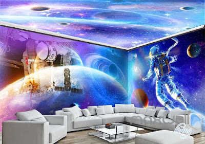 glowing wallpaper design glow in the dark wall stickies and murals